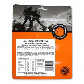 BOEUF STROGANOFF AU RIZ EXPEDITION FOODS. 800 Kcal.-SANS GLUTEN-EXPEDITION FOODS-004-0258-9,90 €