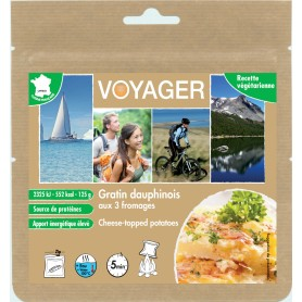 GRATIN DAUPHINOIS AUX 3 FROMAGES VOYAGER. 559 kcal.-VÉGÉTARIEN-VOYAGER-B134F-6,30 €