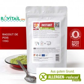 Repas lyophilisés Ravitail RAGOUT DE PETITS POIS EF EMERGENCY FOOD-RATIONS D'URGENCE-EF EMERGENCY FOOD--4,50 €