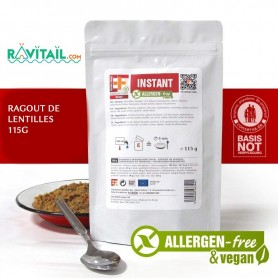 Repas lyophilisés Ravitail RAGOUT DE LENTILLES EF EMERGENCY FOOD-RATIONS D'URGENCE-EF EMERGENCY FOOD--4,50 €