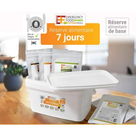 PACK SURVIE EF EMERGENCY FOOD FLEX12 repas+5 barres EF EMERGENCY FOOD